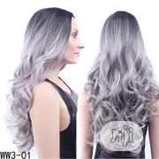 Beautiful Long Curly Granny Grey Wig | Hair Beauty for sale in Lagos State, Lagos Island