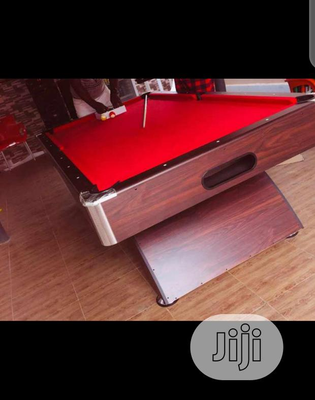 7ft Snooker Board With Complete Accessories, Red Flet