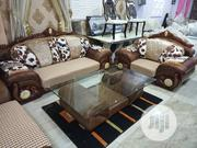 Fabric and Leather Sofa Settee Chair Plus Center Table | Furniture for sale in Oyo State, Ibadan North East
