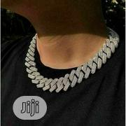 20inch Mens Hip Hop Iced Miami Cuban Chain Necklace | Jewelry for sale in Lagos State, Surulere