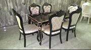 Royal Wooden Dining With Six (6) Dining Chairs | Furniture for sale in Oyo State, Igbo Ora