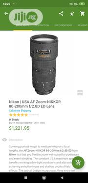 Nikon 80-200mm AF-D F2.8 Telephoto Lens | Accessories & Supplies for Electronics for sale in Abuja (FCT) State, Wuse 2