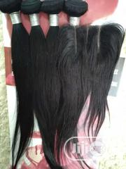 Brazilian Hair With 3 Parting Closure | Hair Beauty for sale in Ondo State, Akure
