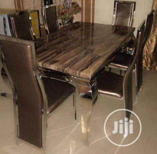 New High Quality Six Seater Marble Dining Table