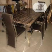 High Quality Marble Dining Table With Six Chair   Furniture for sale in Lagos State, Ikeja