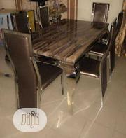 High Class Smart Marble Dining Table With Six Chair   Furniture for sale in Lagos State, Ajah