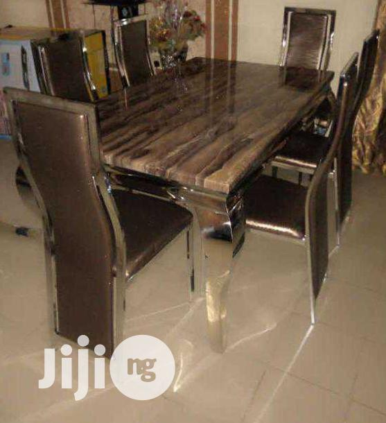 High Class Smart Marble Dining Table With Six Chair