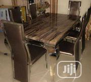Brand New Classy Six Seater Marble Dining Table | Furniture for sale in Rivers State, Port-Harcourt