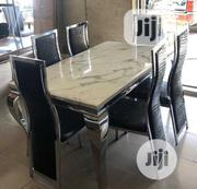 New High Quality Smart Marble Dining Table By-6 | Furniture for sale in Lagos State, Ojodu