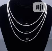 Premium High Quality Twisted Chain Available in Sizes | Jewelry for sale in Lagos State, Lagos Island