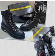 Off White Leather Hightop Boots for Men Available | Shoes for sale in Lagos State, Surulere