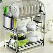 3 Layers Anti-Rust Stainless Steel Dish Rack | Kitchen & Dining for sale in Lagos State, Alimosho