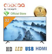 "Coocaa 32"" LED HD With Stereo Audio TV- Black - 