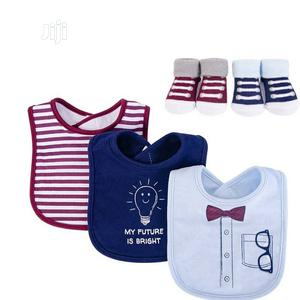 Baby Set Of Socks And Bib