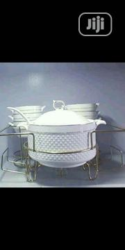 3pcs Ceramic Dish With Stand And Spoon | Kitchen & Dining for sale in Lagos State, Lagos Island