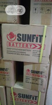 SUNFIT 12V 100AH Deep Cycle Inverter Battery | Electrical Equipment for sale in Lagos State, Ojo