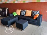An L-Shape Seater Chair With Throw Pillows and Ottoman | Home Accessories for sale in Lagos State, Lagos Mainland