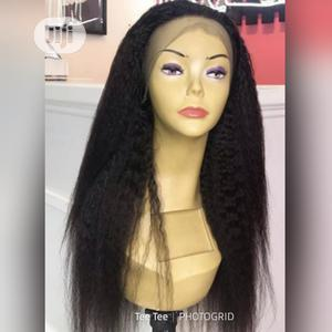 Kinky Straight Frontal Wig