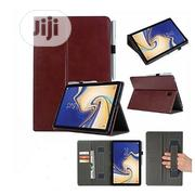 Pure Leather Case With Pen Holder For Samsung Galaxy Tab S4 - Brown   Accessories for Mobile Phones & Tablets for sale in Lagos State, Ikeja