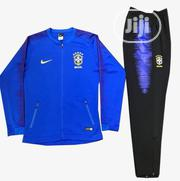 Brand New Brazil Blue Football Presentation Tracksuit | Sports Equipment for sale in Lagos State, Surulere