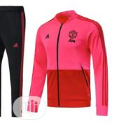 Brand New Manchester United Presentation Tracksuit /Pink | Sports Equipment for sale in Lagos State, Surulere