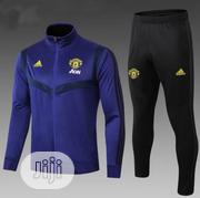 Brand New Manchester United Presentation Tracksuit Blue | Sports Equipment for sale in Lagos State, Surulere