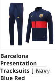 Brand New Barcelona Presentation Tracksuit Navy /Blue Red | Sports Equipment for sale in Lagos State, Surulere