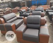 Full Sofa Set Chair Black and Brown With Quality Leather   Furniture for sale in Lagos State, Mushin