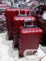 Superior Plastic Luggage Set | Wine Colour | Bags for sale in Lagos State, Ikeja