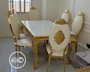 Royal Like, Good Golden Dining Table With 6chairs | Furniture for sale in Lagos State, Ojo