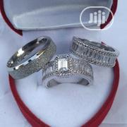 Katty A14 Diamond Stone Silver Wedding Ring Set | Jewelry for sale in Lagos State, Surulere