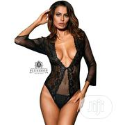 Black Fishnet Teddy M Sexy Lingerie | Clothing for sale in Lagos State, Ikoyi