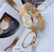 Auriol Gold Net and Bangle Chain Watch for Women's | Jewelry for sale in Lagos State, Lagos Island