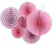6 Pack Pink Fiesta Paper Fans | Home Accessories for sale in Lagos State, Surulere