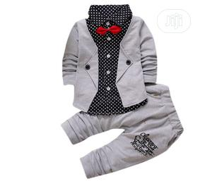 Kid Baby Boy Clothes Set Tuxedo Bow Suit
