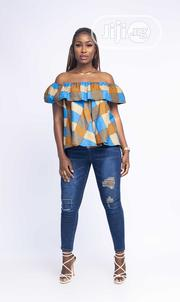 Trendy Off Shoulder Kente Design Ankara Blouse. | Clothing for sale in Lagos State, Ikeja