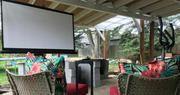 Quality Drop Down Projector Screen | TV & DVD Equipment for sale in Lagos State, Victoria Island