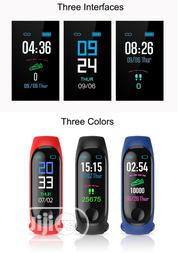M3 Smart Bluetooth Watch Fitness Tracker Blood Pressure Heart Rate | Smart Watches & Trackers for sale in Abuja (FCT) State, Garki 2