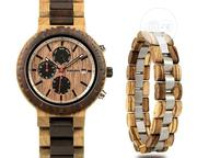 BOBO BIRD Wood Watch Bracelet Set for Men Chronograph Wristwatch | Jewelry for sale in Lagos State, Surulere