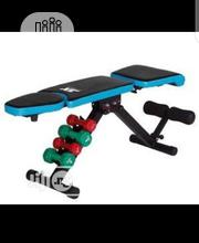 Newly Imported Jx Adjustble Sit Up Bench With Dumbbell | Sports Equipment for sale in Lagos State, Amuwo-Odofin