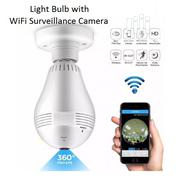 Light Bulb With 3D Panoramic Surveillance Camera | Security & Surveillance for sale in Lagos State, Ikeja