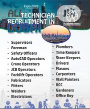 All Technician Recruitment In Dubai | Construction & Skilled trade Jobs for sale in Oyo State, Ibadan