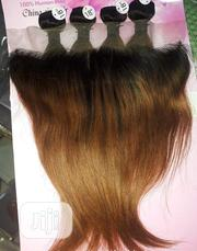 """18"""" Pre-Coloured Straight Human Hair With Frontal   Hair Beauty for sale in Lagos State, Victoria Island"""