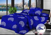 7x7 Cotton Blue Duvet, Bedsheet And 4 Pillow Cases | Home Accessories for sale in Lagos State, Ikeja