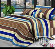 Multi Stripe Unique 6x7 Duvet, Bedsheet With 4 Pillow Cases | Home Accessories for sale in Lagos State, Ikeja
