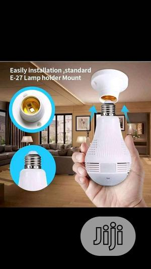 Wireless Bulb CCTV Camera With Wi-fi Signals And Motion Detection
