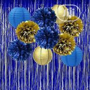 Blue and Gold Mettalic Fringe Curtain | Home Accessories for sale in Lagos State, Surulere