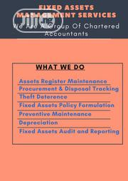 Affordable Fixed Assets Management Services For Your SME | Tax & Financial Services for sale in Lagos State, Ikorodu
