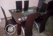 Quality Strong Six Seater Tinted Glass Dining | Furniture for sale in Edo State, Benin City