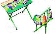 Fordable Wooden And Steel Kid Table And Chair | Furniture for sale in Lagos State, Surulere